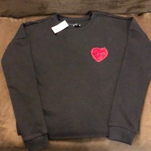 Joe Boxer Tops - Valentines Day Red Heart ❤️ LS Black Sweatshirt